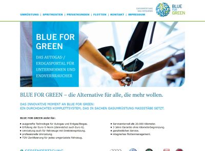 HTML Website Onepage Blue For Green