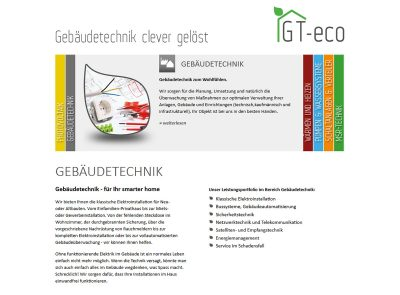 Website GT-eco HTML/PHP