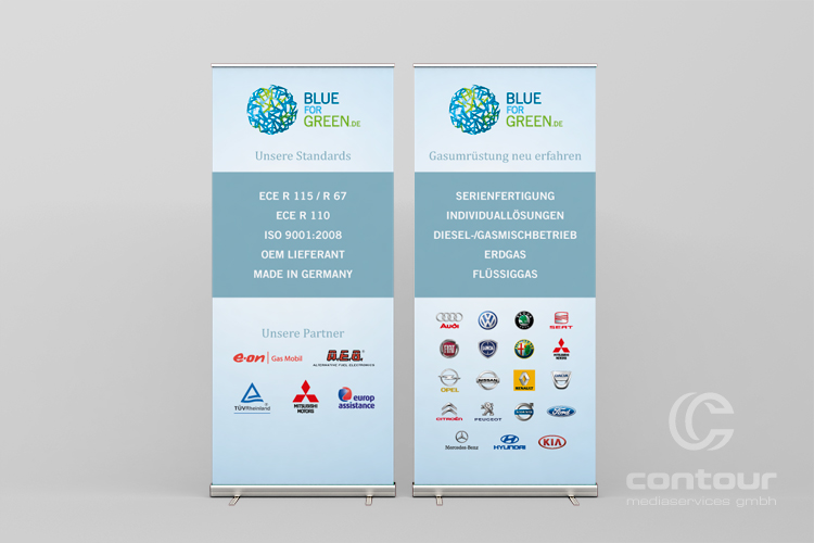 Messestand Blue for Green